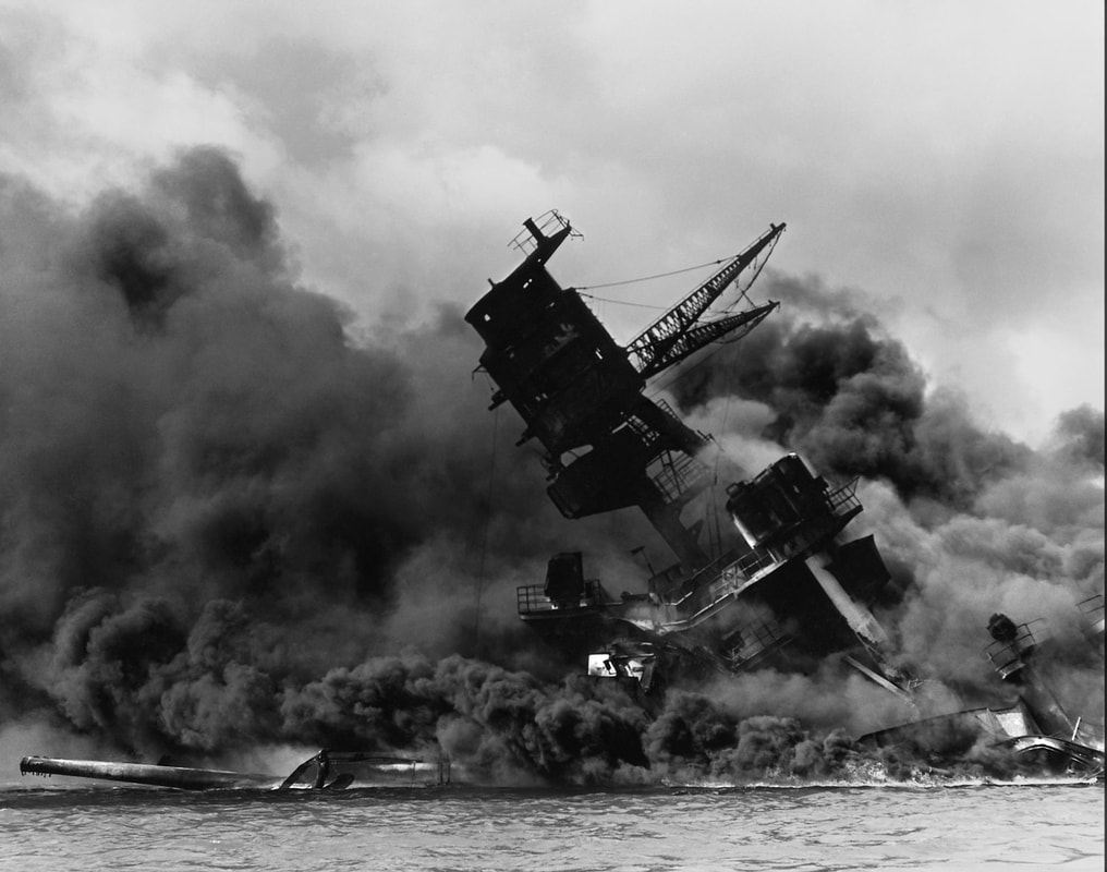 USS Arizona - Destroyed at Pearl Harbor