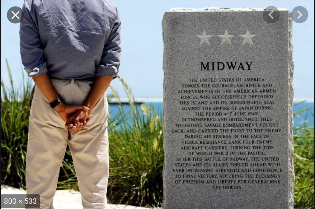 President Obama at Midway Island